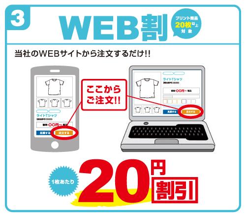 WEB割 WEBサイトから注文するだけで適用