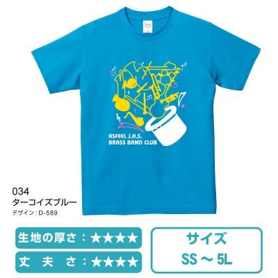 00117ベーシックエアーTシャツ ターコイズブルー