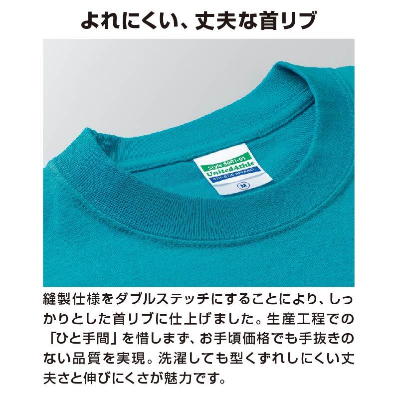 05001ヘビーウェイトTシャツα よれにくい丈夫な首リブ