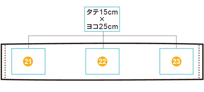 イベントマフラータオル【部分プリント】 印刷位置・範囲