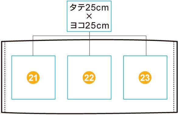 イベントフェイスタオル【部分プリント】 印刷位置・範囲