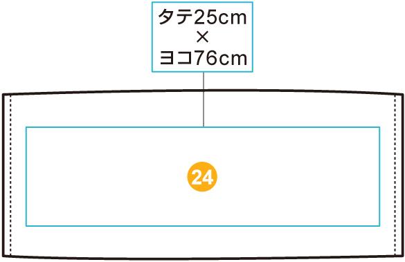 イベントフェイスタオル【全体プリント】 印刷位置・範囲